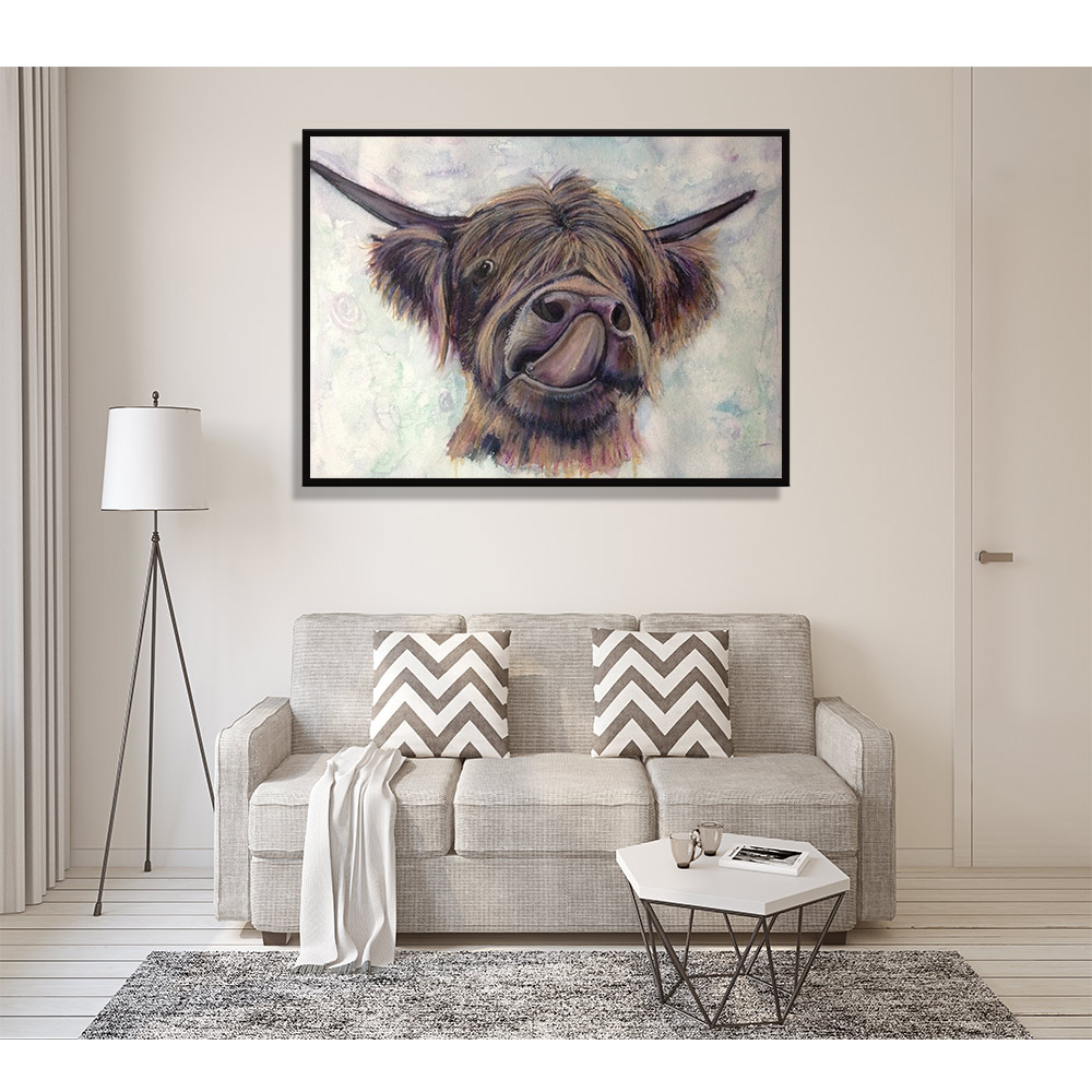 Скандинавское украшение, поп-арт, мордерн, настенный постер и принт, акварель, бык, животное, холст, живопись на холсте, картина для домашнего...