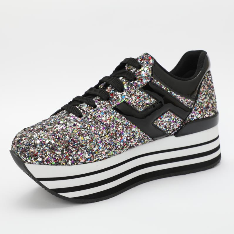 Sneakers Mujer Femme De Pic Plate Dames Femmes Casual Pic As Zapatos Lacent forme Bling as Chaussures Printemps 7EHqR0
