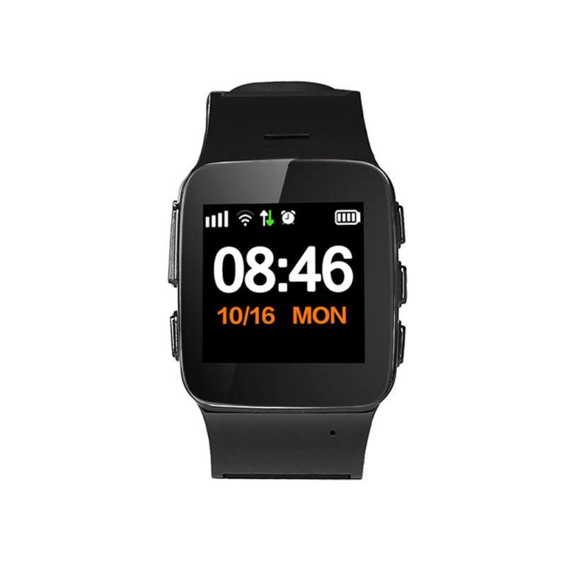 Русский D99 Смарт-часы для людей пожилого возраста дети умные часы-телефон SOS GPS + WiFi слежения часы для iPhone Android телефоны старый для мужчин Для ж...