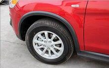 Tire Wheel Arch Fender Flares Kits for Mitsubishi ASX Outlander Sport 2013-2015 4pcs set car wheel arch fender flares extension arches mudguards strip trims for audi q3 2013 2015 pp unpainted gray primer