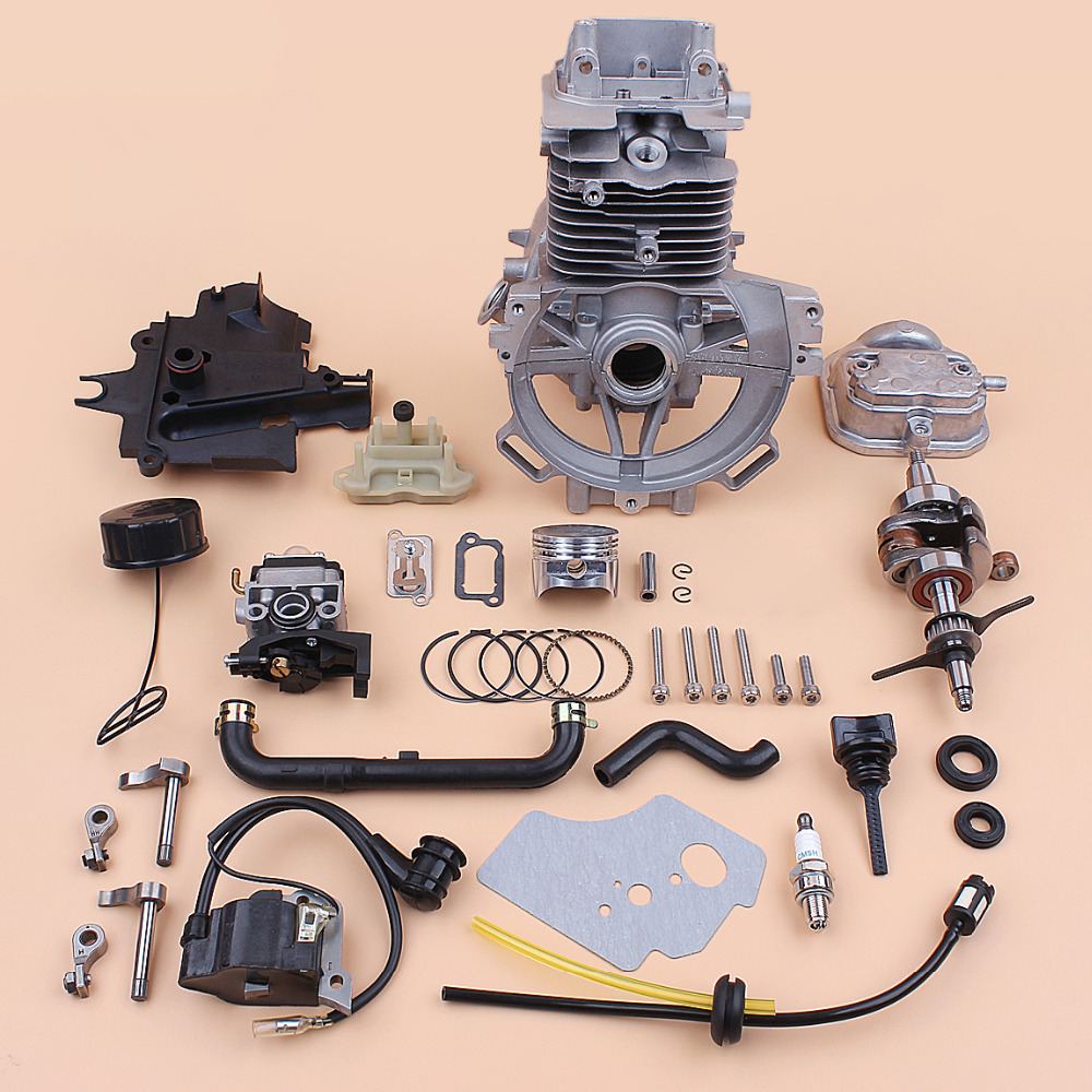 Rebuild Motor GX35 HONDA Kit Cylinder Piston 39mm Parts Crankshaft Carburetor For Small GX35NT Crankcase Trimmer Gas Engine