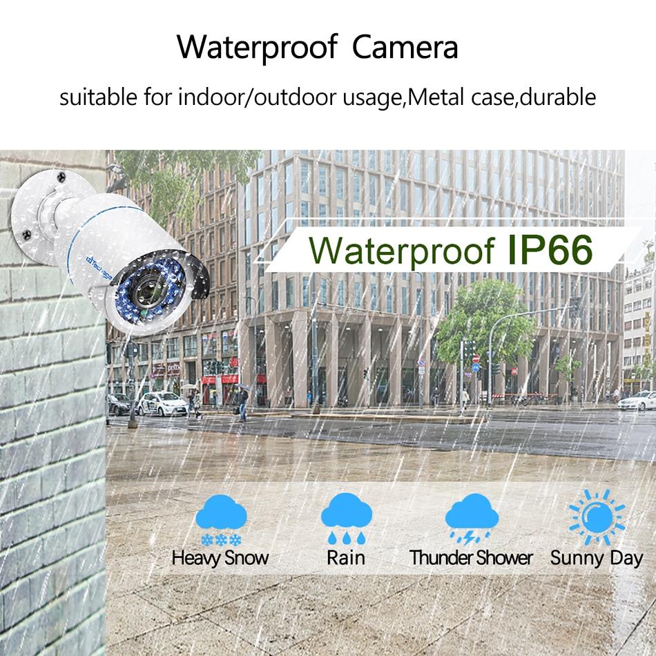 Techage 8CH 1080P H.265 POE IP Kamera NVR System 2MP Audio Sound Rekord CCTV Video Überwachung Kit IR Cut DIY Home Security Set