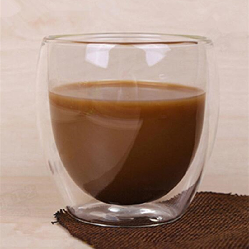 Image 5 - Double Coffee Mugs With the Handle Mugs Drinking Insulation Double Wall Glass Tea Cup Creative Gift Drinkware Milk-in Transparent from Home & Garden