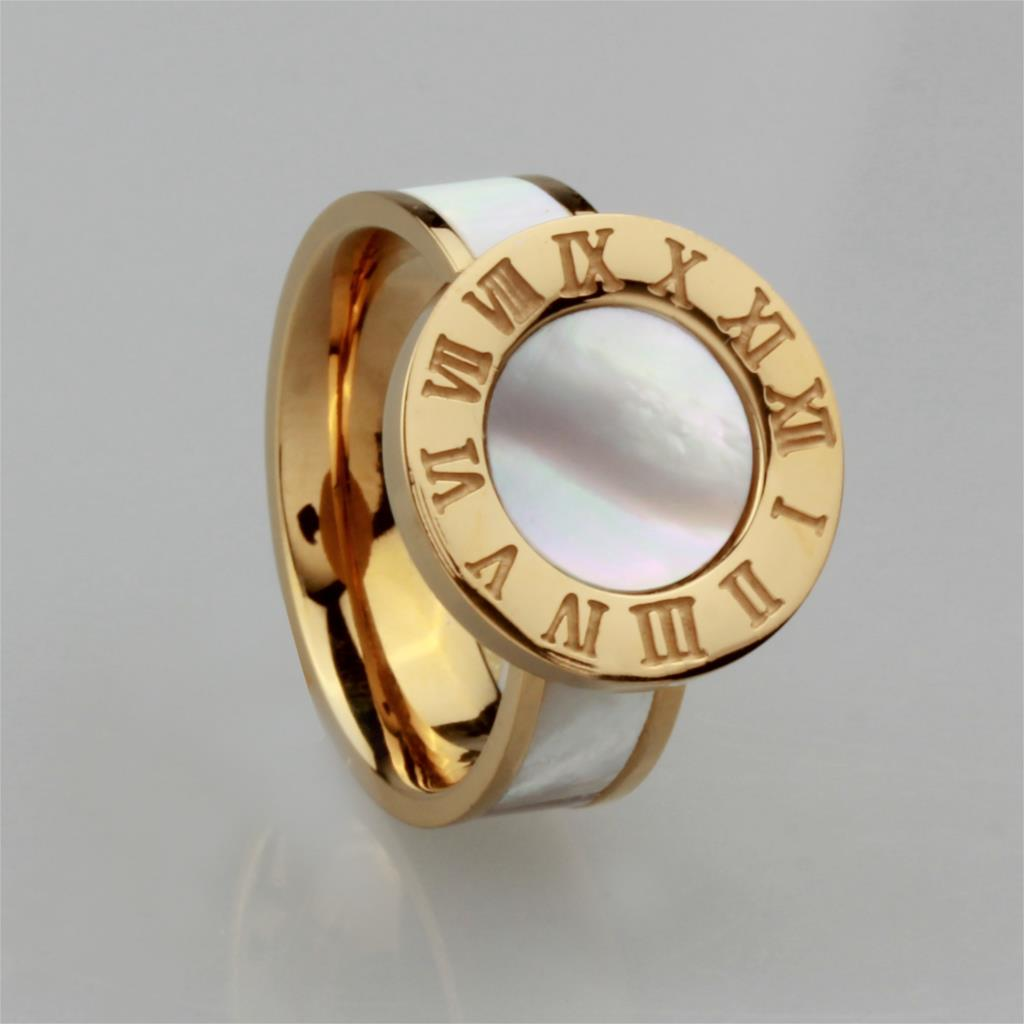 WLR0368 hot sale 2 colors stainless steel ring for women.white Gorgeous simple ring . Fashion Design roman numerals rings