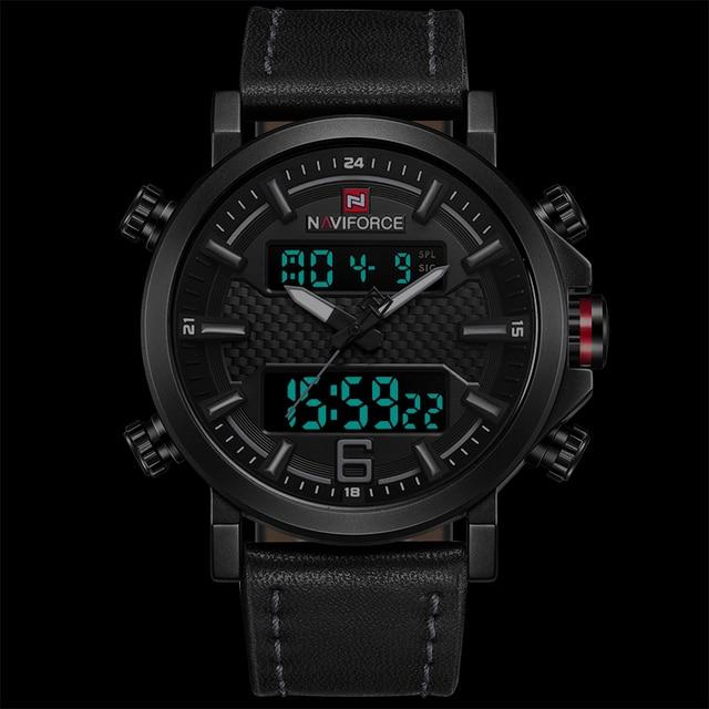 2019 NAVIFORCE New Men's Fashion Sport Watch Men Leather Waterproof Quartz Watches Male Date LED Analog Clock Relogio Masculino 2