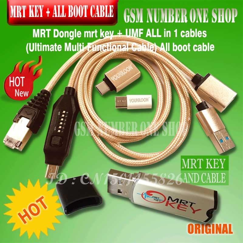 MRT originais Dongle chave + UMF tudo em 1 mrt cabo (Cabo Final Multi-Funcional)