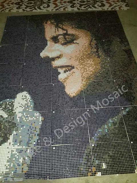 Custom Made Michael Jackson Mural Puzzle Art Ceramic