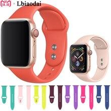 цена на Silicone Strap for Apple Watch 4 44mm 40mm Correa Sport Band iwatch series 3 2 1 42mm 38mm bracelet wrist Colck Belt watchband