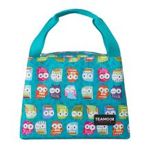 TEAMOOK Food Fresh Insulated Thermal Oxford Lunch Bag Waterproof Cooler Leisure Cute Owl Tote