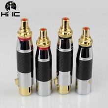 פחמן סיבי מוזהב אודיו מתאם XLR 3Pin זכר/נקבת RCA נקבה אודיו מתאם מחבר ממיר HIFI נתמך