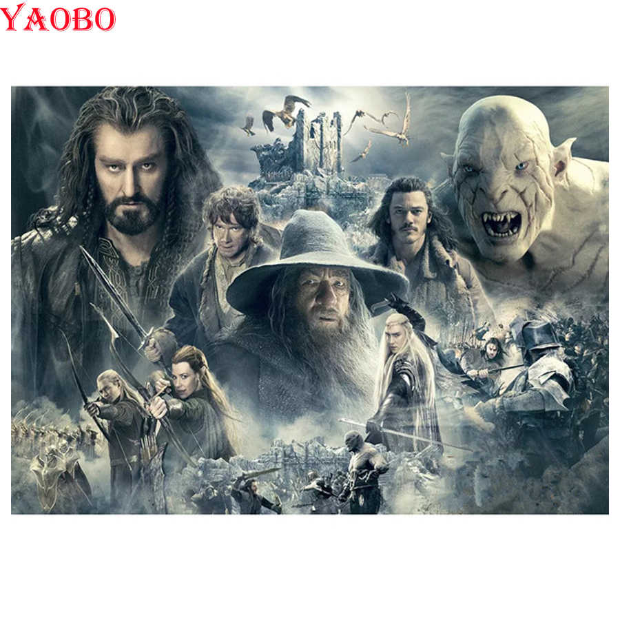 DIY Diamond Embroidery Lord of the Rings Movie poster Diamond Painting Cross Stitch 5D Full Square Mosaic Pictures Of Rhinestone