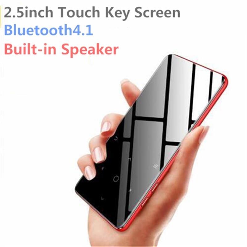 Bluetooth 4.1 Tasto di Tocco MP4 Musica Player Bulit-in Altoparlante 8g/16g con Radio FM/ di registrazione Portatile Sottile del Suono Senza Perdita di Walkman
