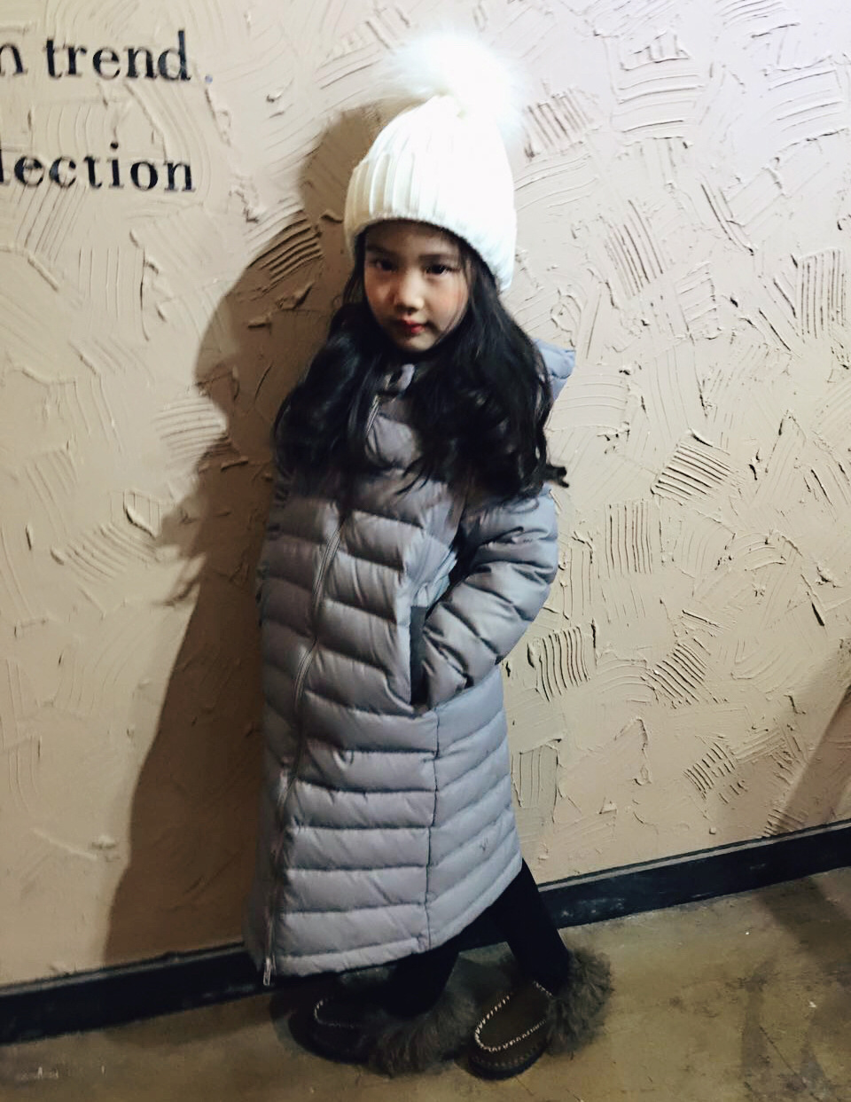Winter Girls Down Jackets Long Winter Jacket For Girls Thick Coat Outerwear Hooded Artificial Fur Collar