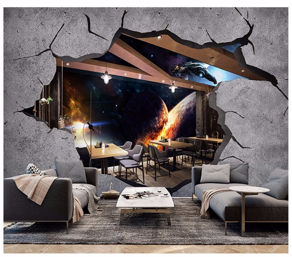 3d wallpaper mural vast space star wall children wallpaper sofa 3d mural home decoration pictures can be customized
