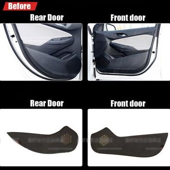 4pcs Fabric Door Protection Mats Anti-kick Decorative Pads For Chevrolet Cruze 2015