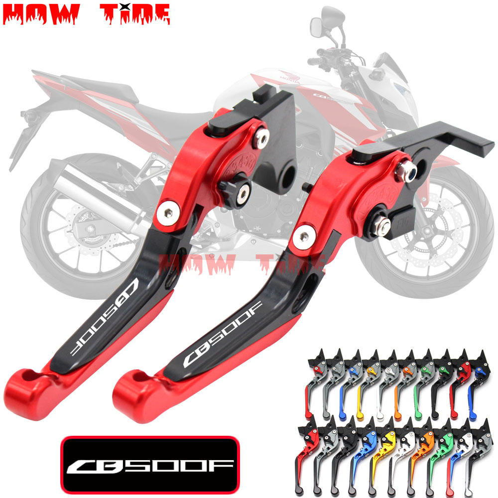 GD.MYSTIC With Logo CNC Motorcycle Foldable Extending Brake Clutch Levers For Honda