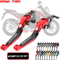 !With Logo CNC Motorcycle Foldable Extending Brake Clutch Levers For Honda CB500F CB500 F CB 500 F 2013 2016