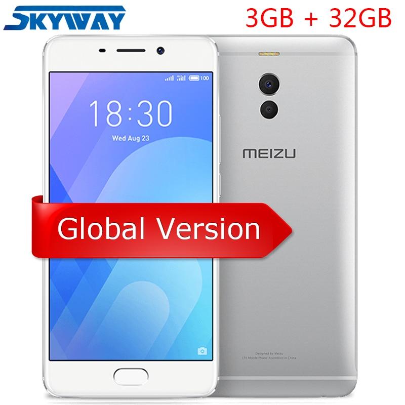 """Оригинал Meizu M6 Примечание 4G LTE 3 ГБ 32 ГБ Snapdragon 625 5,5 """"1920×1080 P Экран двойной сзади Камера 4000 мАч большой Батарея сотовый телефон"""