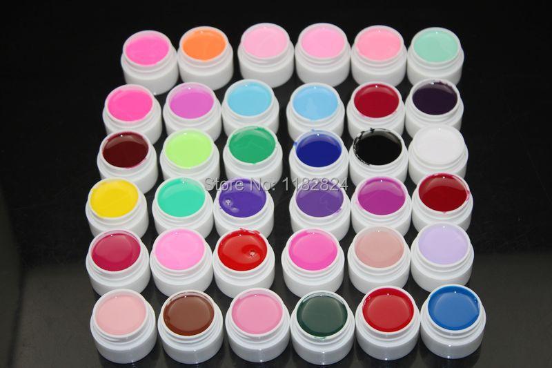 цена на Professional 36Colors Decor UV Gel Nail Art Tips Shiny Cover Extension Manicure Gel polish For Nail Art