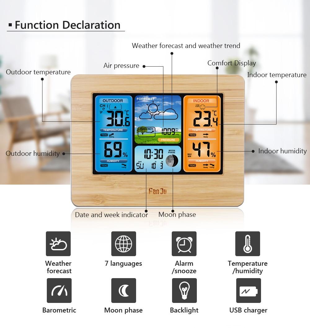 HTB1jDC7c2c3T1VjSZLeq6zZsVXa5 FanJu FJ3373 Weather Station Digital Thermometer Hygrometer Wireless Sensor Forecast Temperature Watch Wall Desk Alarm Clock