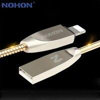 NOHON-Cable USB de carga rápida para móvil, Cable de sincronización de datos de Metal para iPhone 7 6 6S Plus 5 5S SE iPad iPod iOS 8 9 10