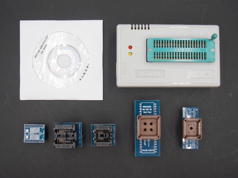 V6.0 MiniPro TL866CS Prgrammer USB programmeur universel/Programme Bios + adaptateur 6 pièces