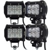 4pcs Super Bright Motorcycle Led Spotlight Cree Led 18w Cree Led Work Light 1800 Lm Waterproof