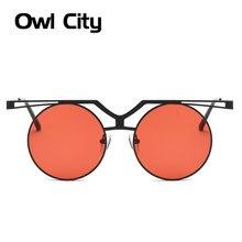 a6cfcae848b0c Óculos de sol Mulheres Steampunk Vintage Homens Óculos Marca Designer Rodada  Óculos de Sol