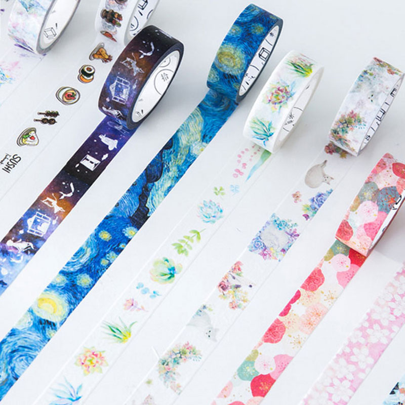 1 pcs Japanese colorful 1.5cm X 10m washi tape children diy Diary decor masking tape kawaii stationery scrapbooking tool 1 x nordic series 1 5cm x 7m kawaii washi tape children diy diary decoration masking tape stationery scrapbooking tool