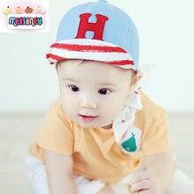 H letters children baseball cap along soft baby cap, infant hat, suitable for 6-18 months