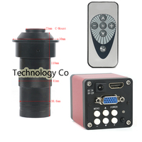 New 720P 14MP 1/3 Digital Industrial Video Microscope Camera HDMI VGA 60F / S Infrared + 100X Lens, Mobile PCB Soldering Repair