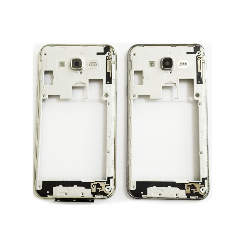 10 Pcs New For Samsung Galaxy J7 J700 2015 Middle Frame Housing Outer Frame Bezel Chassis with Power Volume Buttons Camera lens