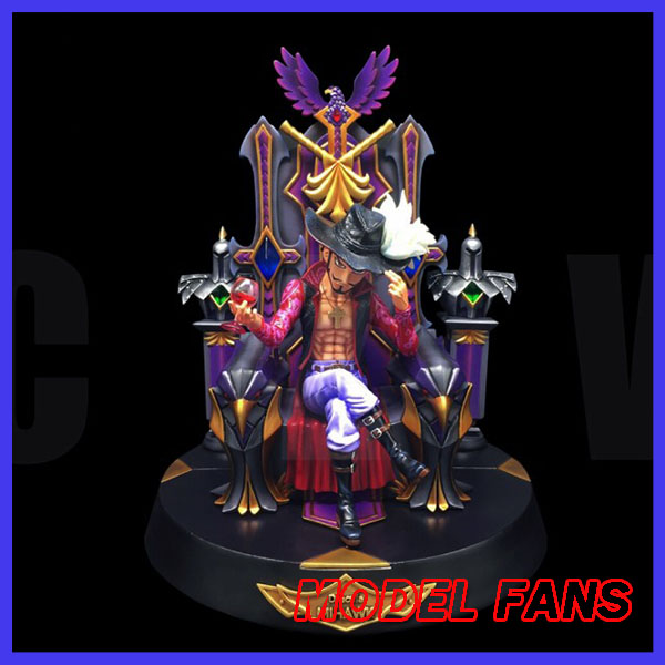 MODEL FANS IN-STOCK CZW SD One Piece 30cm Dracule Mihawk Sitting position gk resin toy Figure for Collection model fans in stock one piece 23cm sd boa hancock sitting position gk resin toy figure for collection