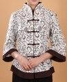 Envío Gratis Beige Marrón de Lino de Las Mujeres Chinas Jacket Coat Tamaño Sml XL XXL XXXL 4XL 5XL 2218-1
