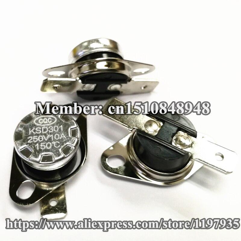 Interruptor de temperatura do termostato KSD301 150 graus 250 V 10A 150 graus Normalmente fechado 150C