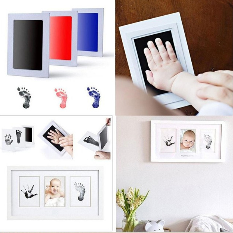 1PC Baby DIY Hand & Footprint Ink Makers Children Souvenirs Infant Safe Inkless Handprint Kit Pad Memories Gift For Newborn Baby