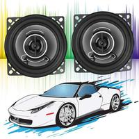 VODOOL 2Pcs 4 inch 350W Auto Music Speaker Car Coaxial Treble Speakers Replacement Auto Audio Stereo System Louder Speakers