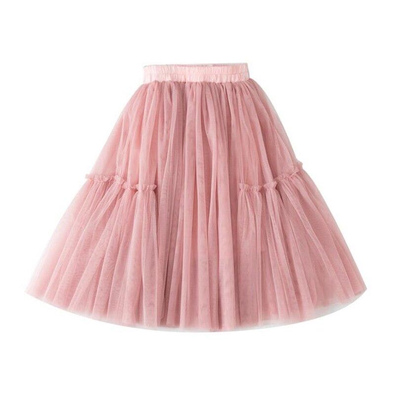 Lememogo Sommer Neue Mädchen Röcke Mesh Baumwolle Kinder Elastische Taille Rock Für Baby Mädchen Medium länge Tutu Rock Kinder Kleidung