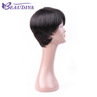 Peruvian Pre Plucked Lace Front Human Hair Bob Wigs Free Shipping Short Straight Remy Hair Free