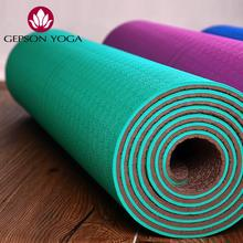 tasteless environmental protection tpe yoga mat 6 mm thickness extended classical upgrade antiskid fitness yoga
