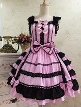 Anime mangas Lolita Gothic Barbie Palacio Retro Encaje de Gasa Princesa Vestido Cosplay Del Traje 10 Colores