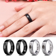 Stainless Steel Couple Rings Black Crown Her King His Queen Couple Jewelry Anniversary Valentine's Day Gifts