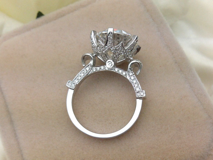 plated ring ct snow jbfashion bridal wedding from diamond solitaire shaped jewelry carat product cut rings sterling platinum engagement silver round for synthetic women