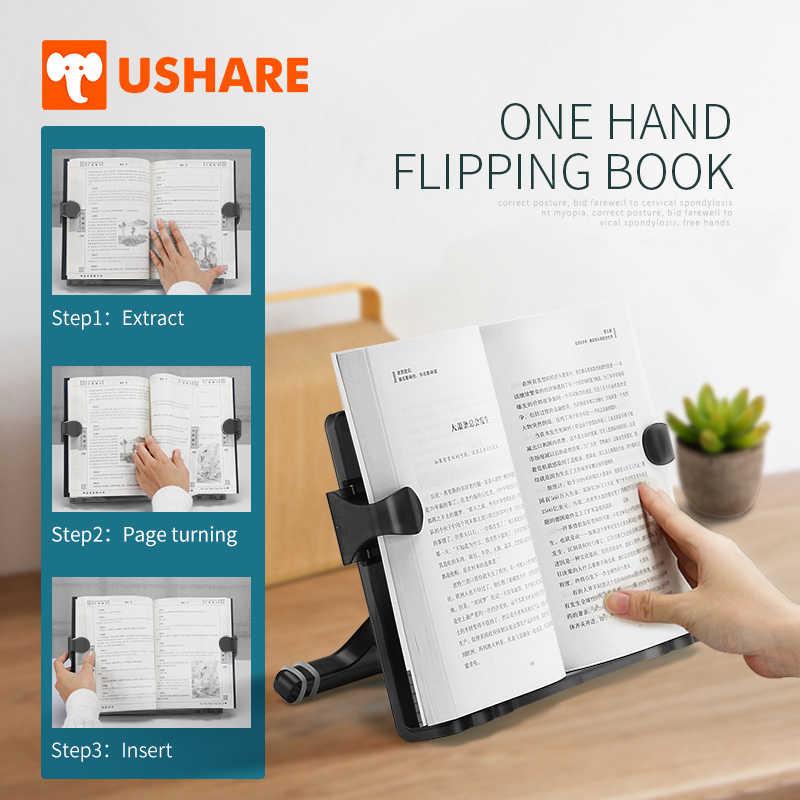 USHARE Livro Stand Titular Ajustável Livro De Leitura De Música Portátil E Multifuncional Plástico Suporte Para Leitura de material de Escritório