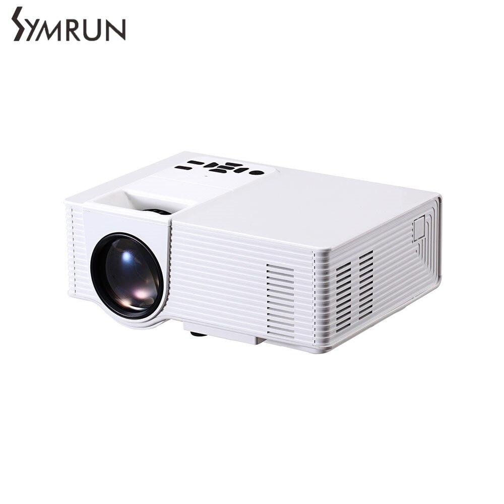 Symrun Proyector de Cine En Casa con 3.5mm de Audio/AV/HDMI/USB VS314 LED Mini P