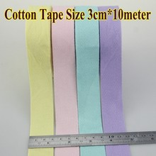 10 meter 3cm Colorful Cotton Herringbone Webbing Straps Tapes Bias Binding Patchwork Dressmaking Sewing Edge Tape