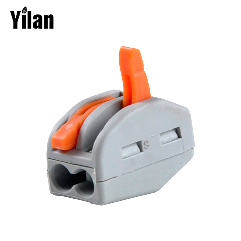 ツ)_/¯100Pcs 2 Pin Universal compact wire wiring connector conductor ...