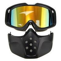 รถจักรยานยนต์หมวกกันน็อคขี่ที่ถอดออกได้Modularใบหน้าหน้ากากโล่แว่นตา