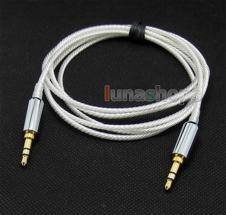 Pure Silver Plated 3.5mm Male Headphone cable for Sony mdr-10r mdr-10rc MDR-10R MDR-10RBT MDR-NC50 MDR-NC200D LN004693