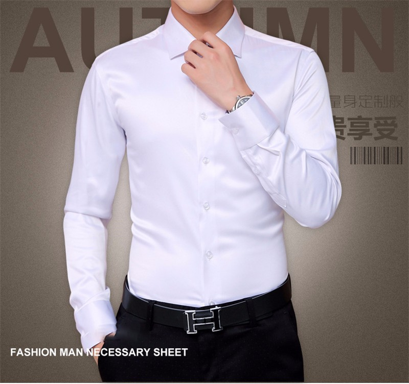 HTB1jDFBNpXXXXXwXXXXq6xXFXXXv - Plus Size 5XL New Men's Luxury Shirts Wedding Dress Long Sleeve Shirt Silk Tuxedo Shirt Men Mercerized Cotton Shirt
